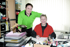Sebastian Pfeiffer und Marion Pfeiffer-Allerkamp in Ihrem Immobilienbüro.